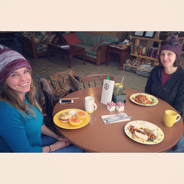 Megan and Jill. The Local Hub. Greenwood, Maine