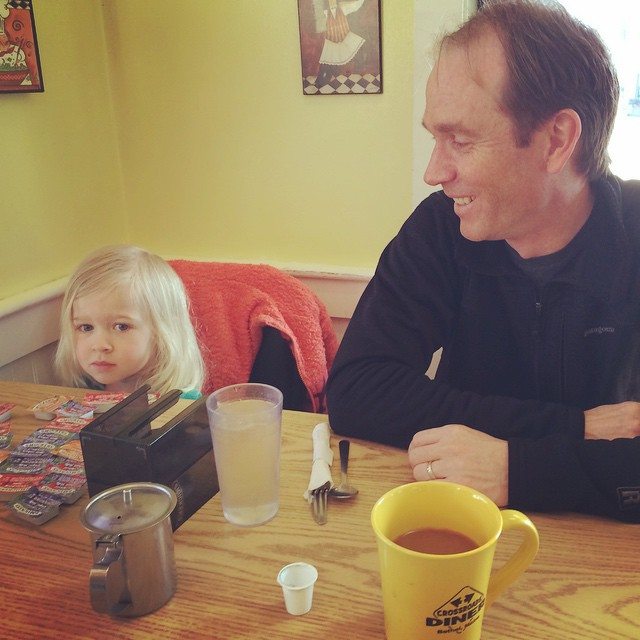 Nick and Madison. Cross Roads Diner. Bethel, Maine