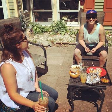 Emma and Nikki Scarborough Maine we break fast