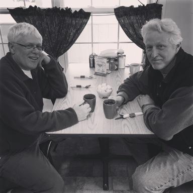 Marc and Dave Crossroads Diner Bethel Maine we break fast