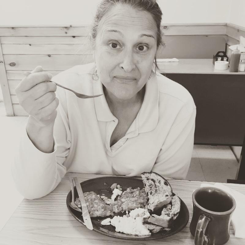 we break fast kel the hitching post diner bethel maine breakfast